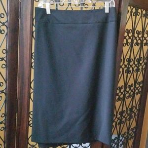 Talbots classic black pencil skirt
